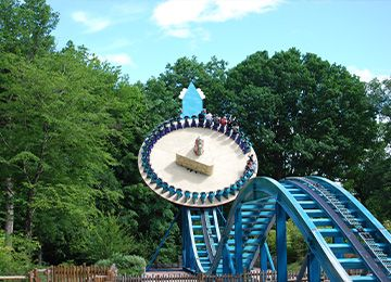 Le disque du Soleil au parc d'attraction Le PAL
