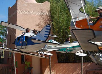 Les avions de l'escadrille au parc animalier Le PAL