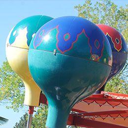 Les ballons d'orient au parc d'attraction Le PAL