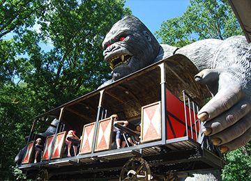 King Kong au parc de loisirs Le PAL en Auvergne-Rhône-Alpes