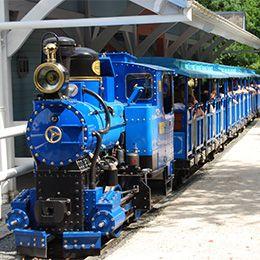 Le train des aventuriers au parc d'attraction Le PAL en Auvergne Rhône Alpes